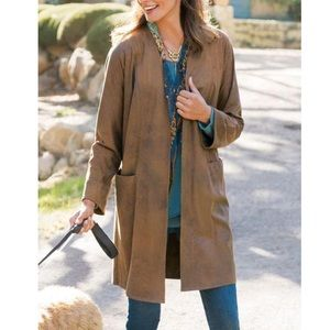 Soft Surroundings Suede Duster